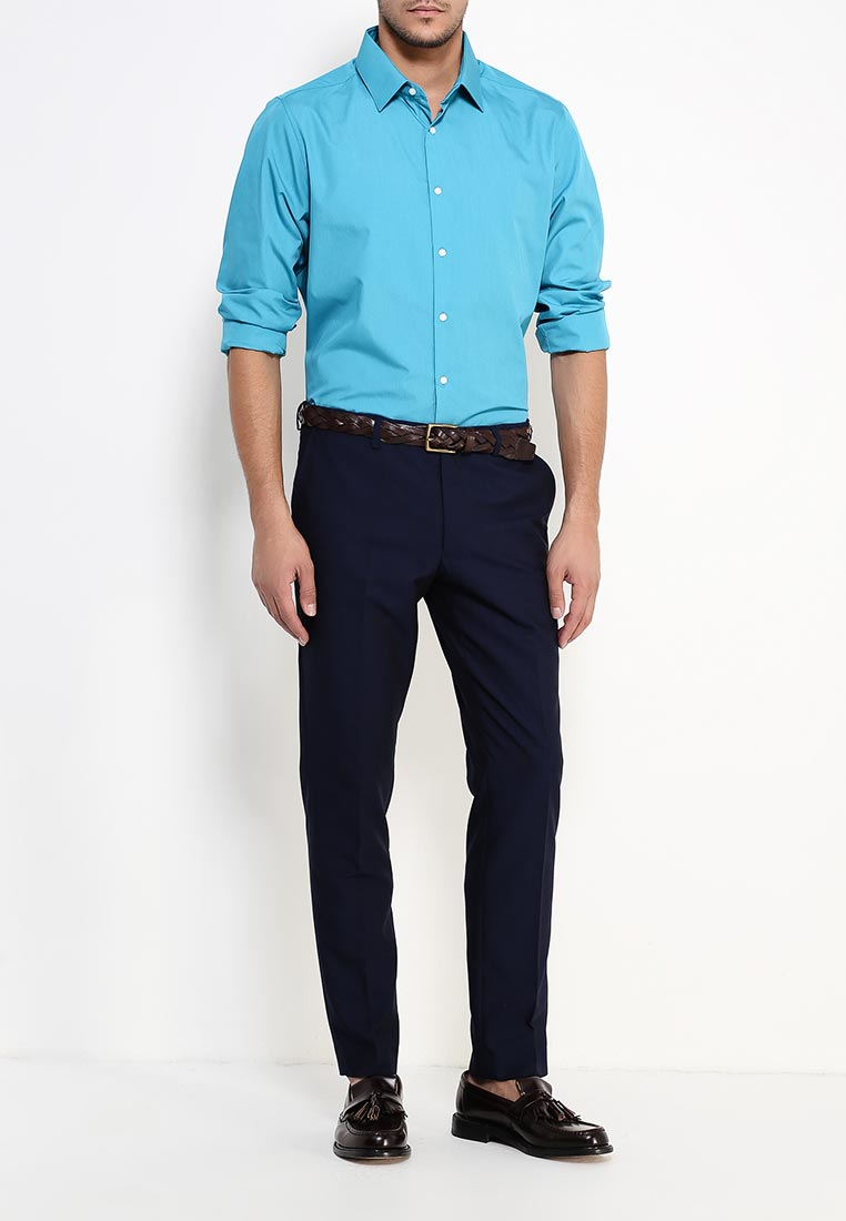 Рубашка с длинным рукавом Burton Menswear London 19B11IBLU: изображение 6