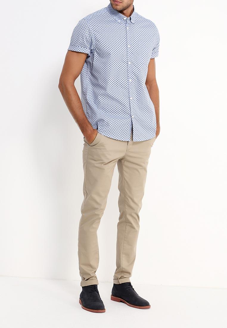Рубашка с коротким рукавом Burton Menswear London 22P07JBLU: изображение 7