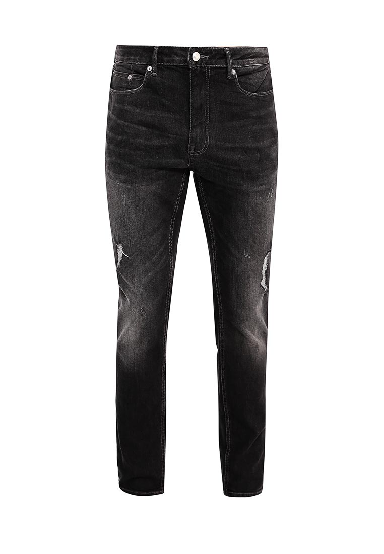 Зауженные джинсы Burton Menswear London 12A01LBLK