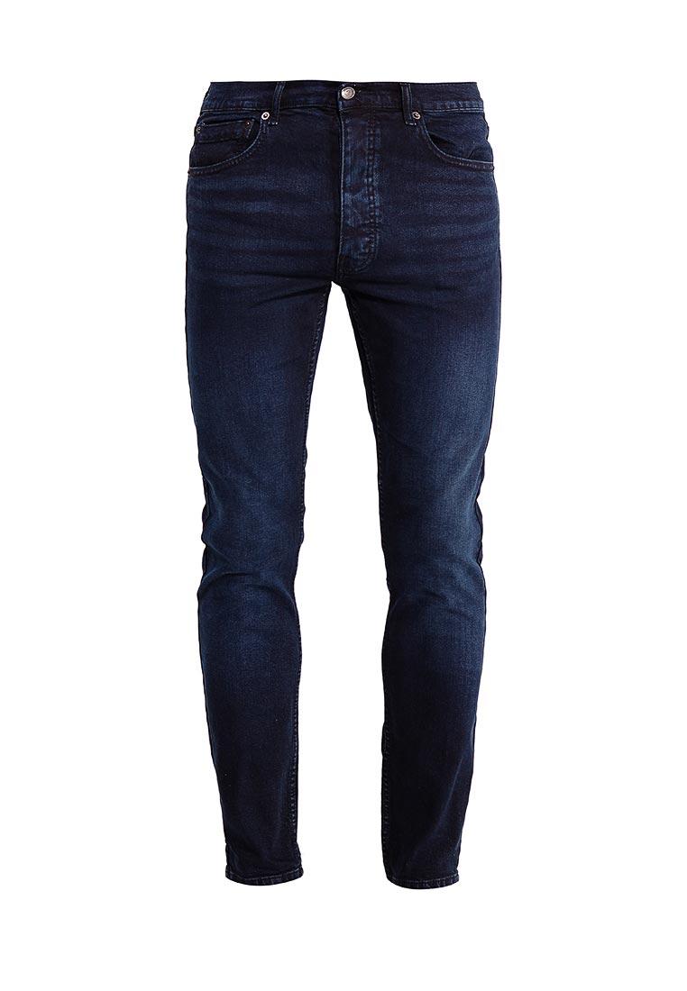 Мужские прямые джинсы Burton Menswear London 12K06LBLU