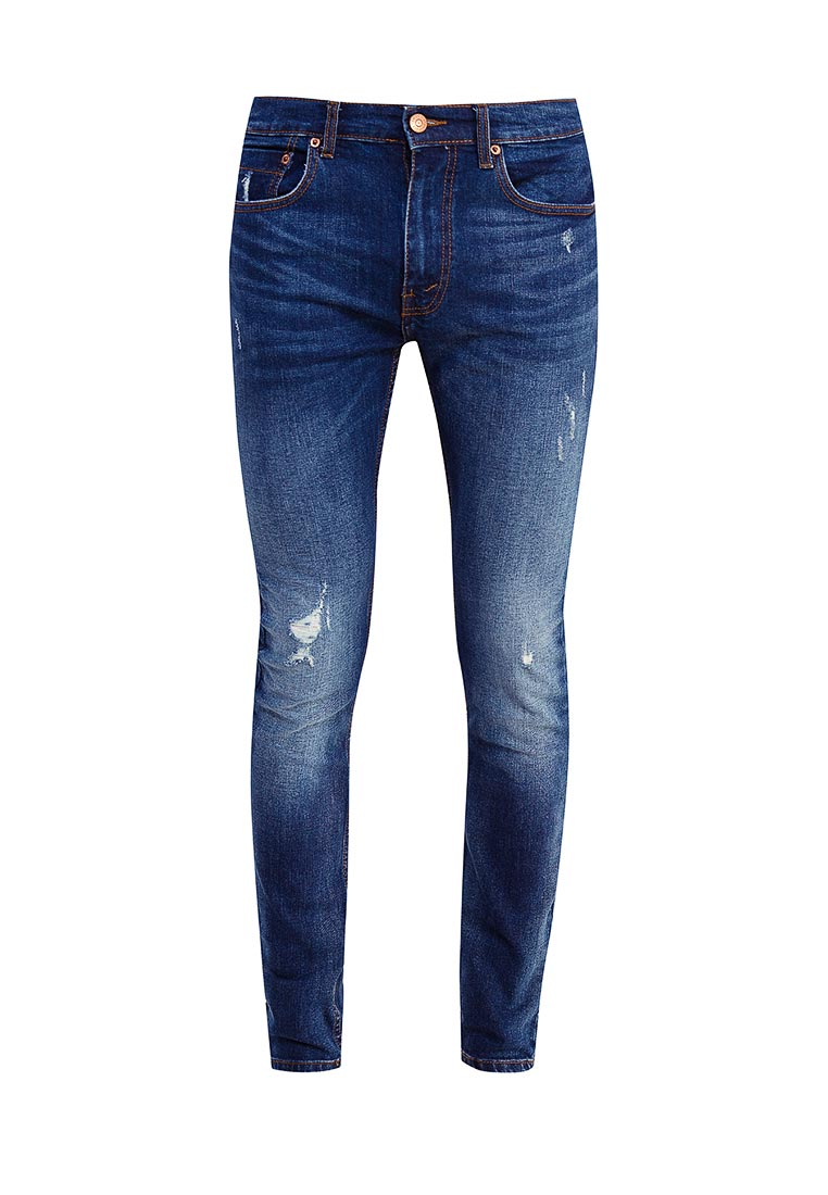 Зауженные джинсы Burton Menswear London 12S01LBLU
