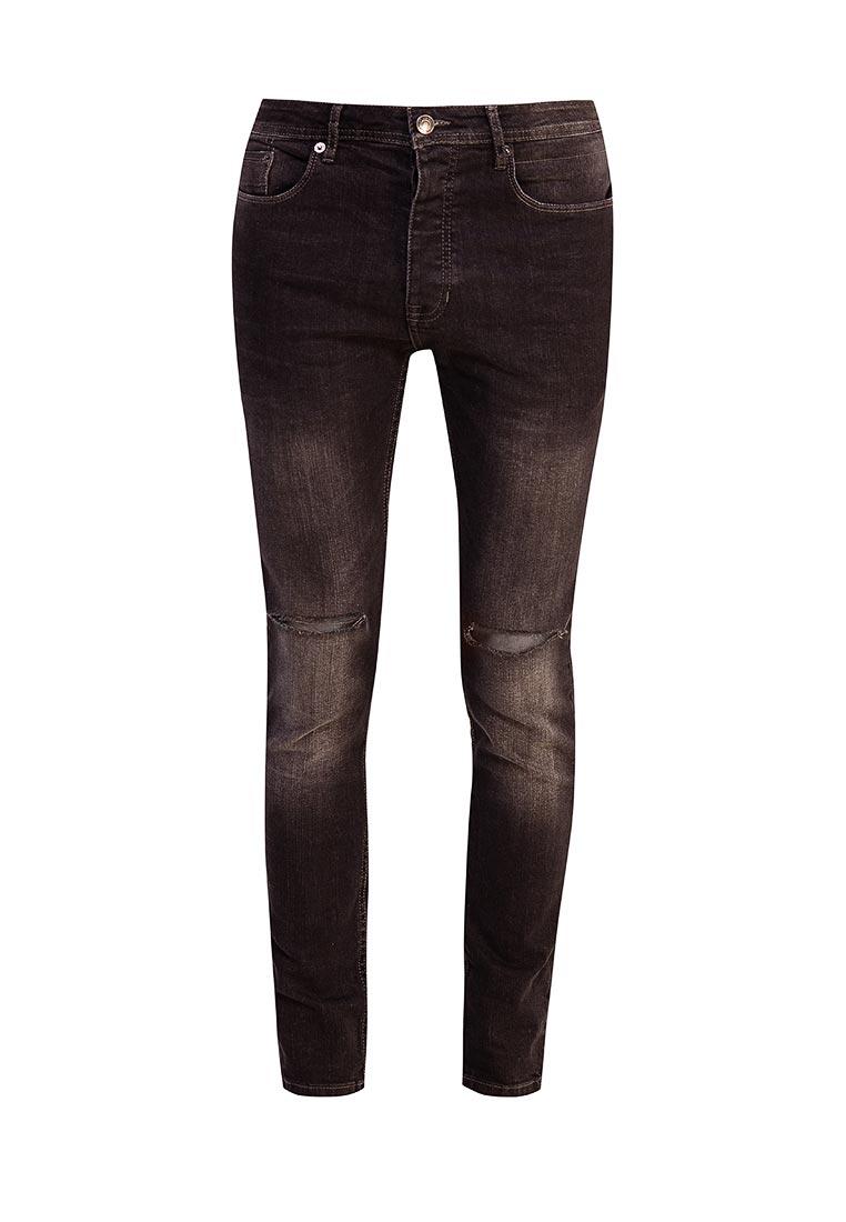Зауженные джинсы Burton Menswear London 12S03LBLK