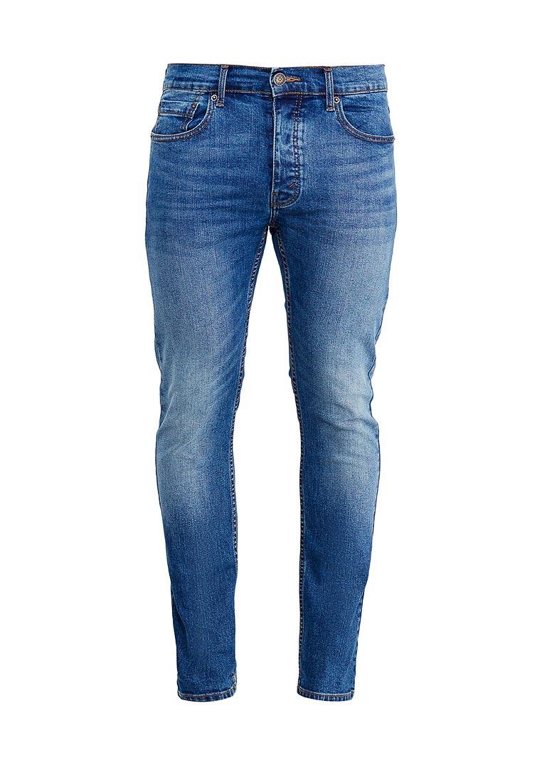 Зауженные джинсы Burton Menswear London 12L04LBLU