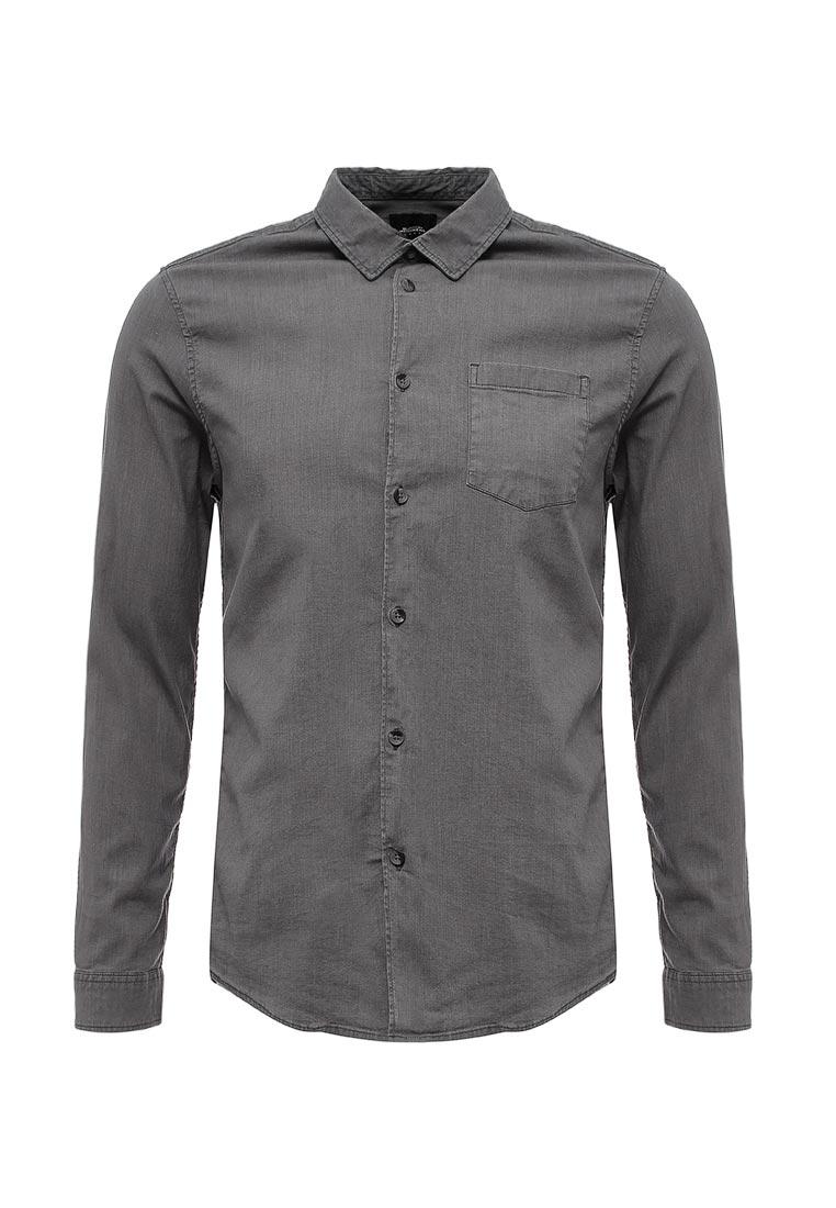 Рубашка с длинным рукавом Burton Menswear London 22D04LGRY