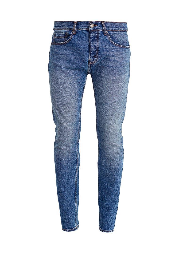 Зауженные джинсы Burton Menswear London 12T03LBLU