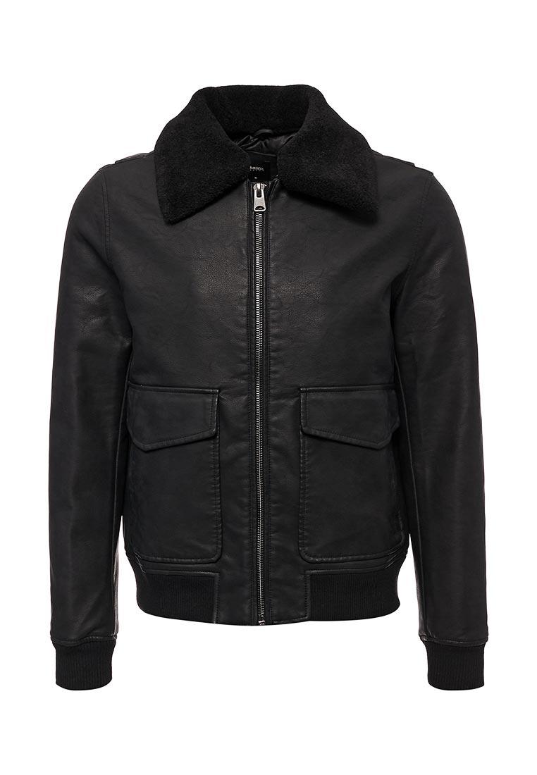 Кожаная куртка Burton Menswear London 06L08LBLK