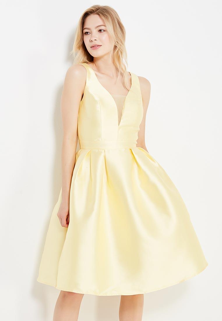 Платье-миди Chi Chi London 7463YEL