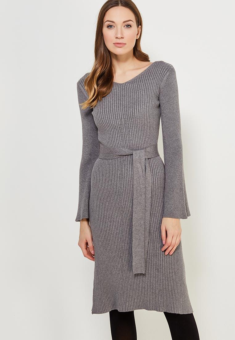 Вязаное платье Conso Wear KWDL170786 - grey melange