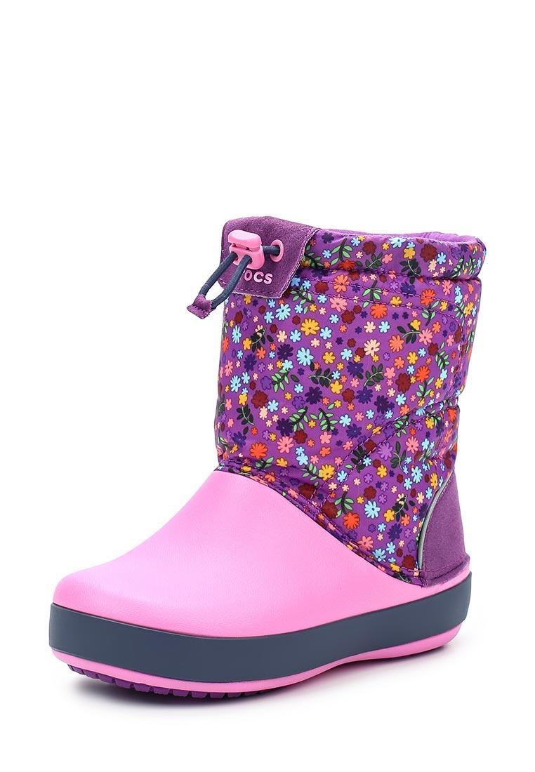 Дутики для девочек  Crocs (Крокс) 204829-5N9