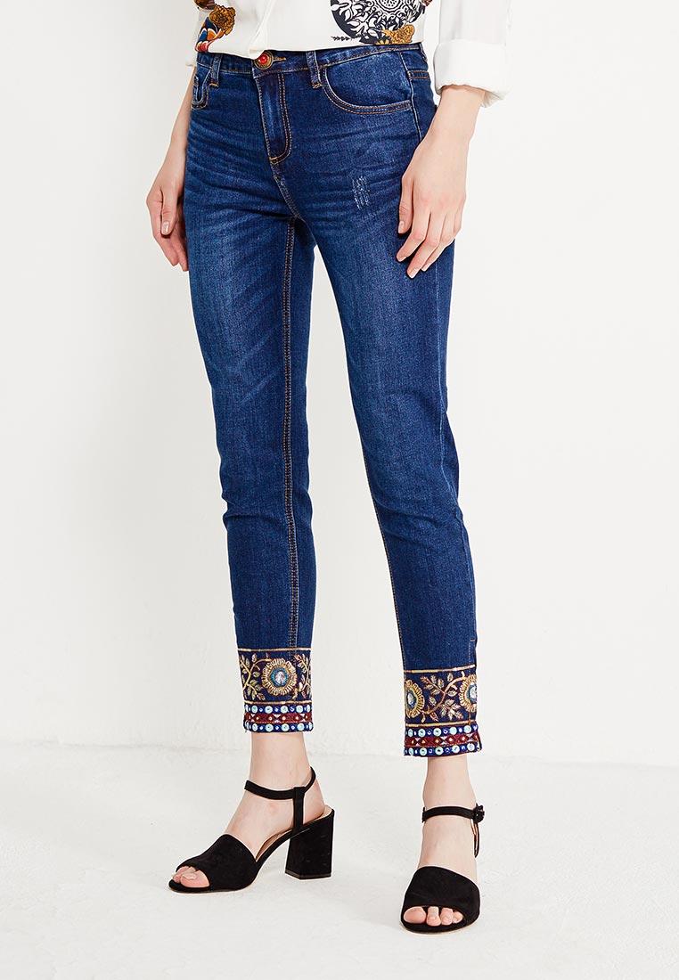 Зауженные джинсы Desigual (Дезигуаль) 17WWDD38