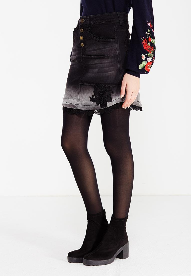 Прямая юбка Desigual (Дезигуаль) 17WWFD02