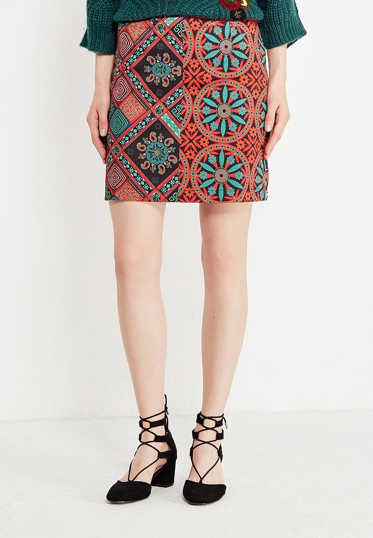 Прямая юбка Desigual (Дезигуаль) 17WWFW20