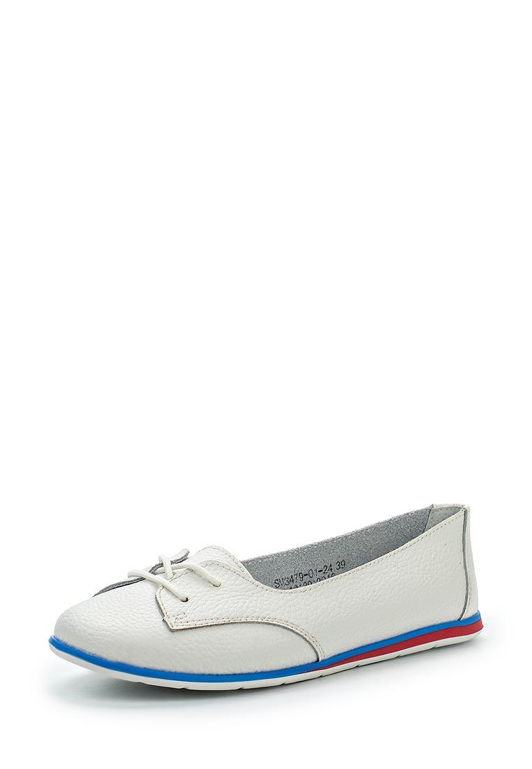 Туфли на плоской подошве Der Spur SM3479_01_24_WHITE