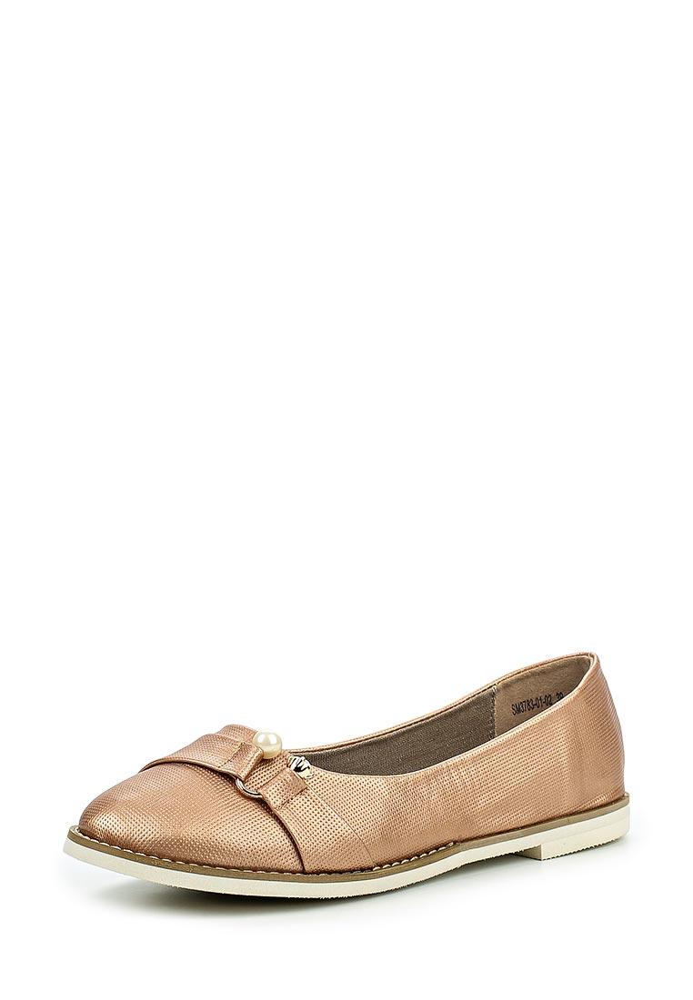 Туфли на плоской подошве Der Spur SM3783_01_02_BROWN