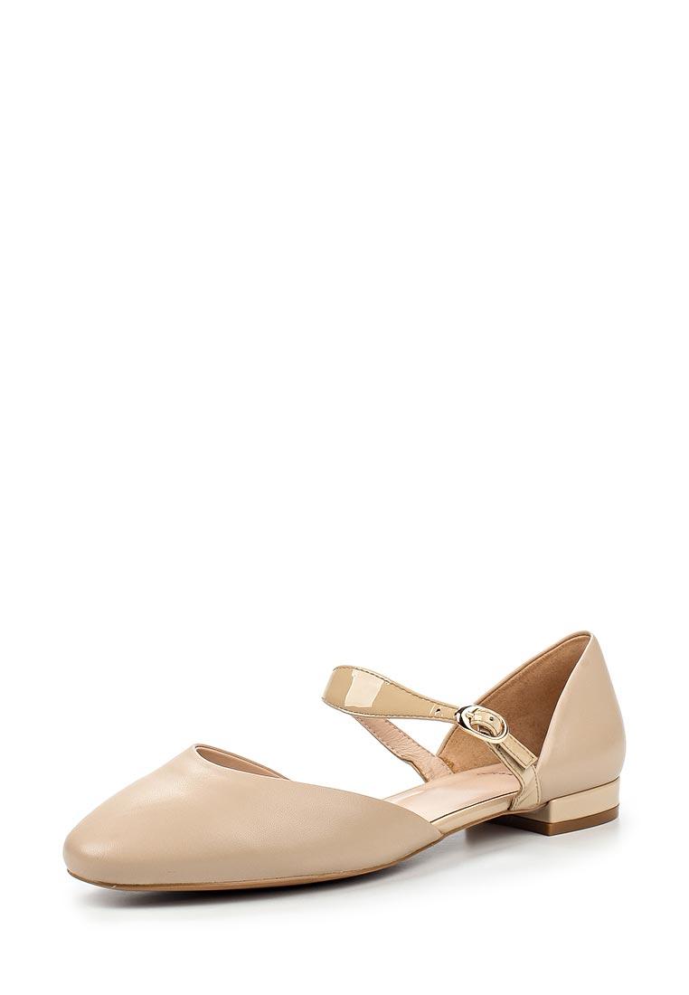 Туфли на плоской подошве Ekonika EN1719-02 beige-17L