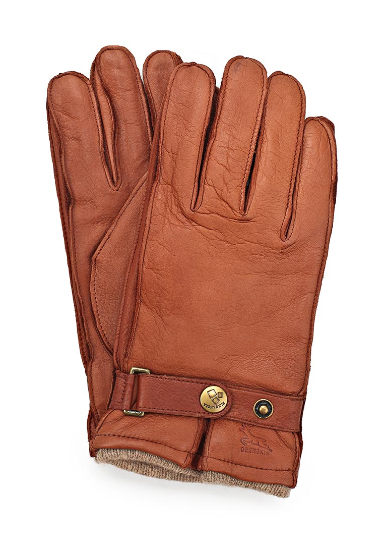 Мужские перчатки Eleganzza HS200-B cognac