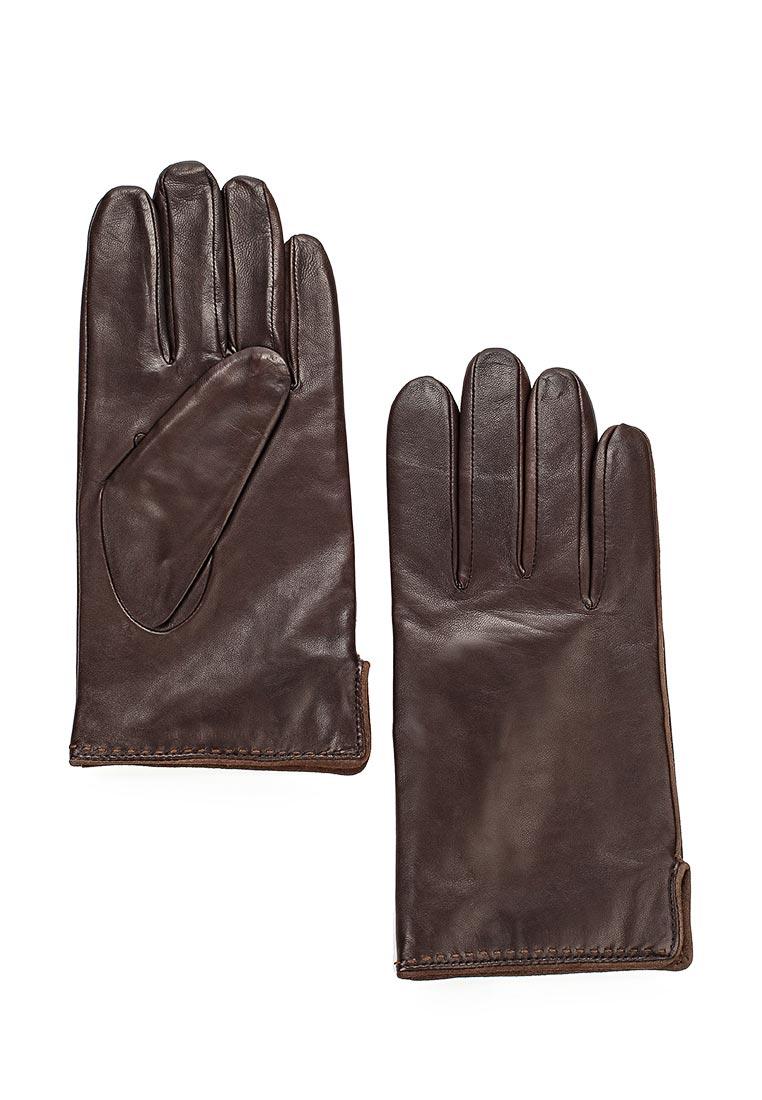 Мужские перчатки Eleganzza IS313M brown/l.taupe