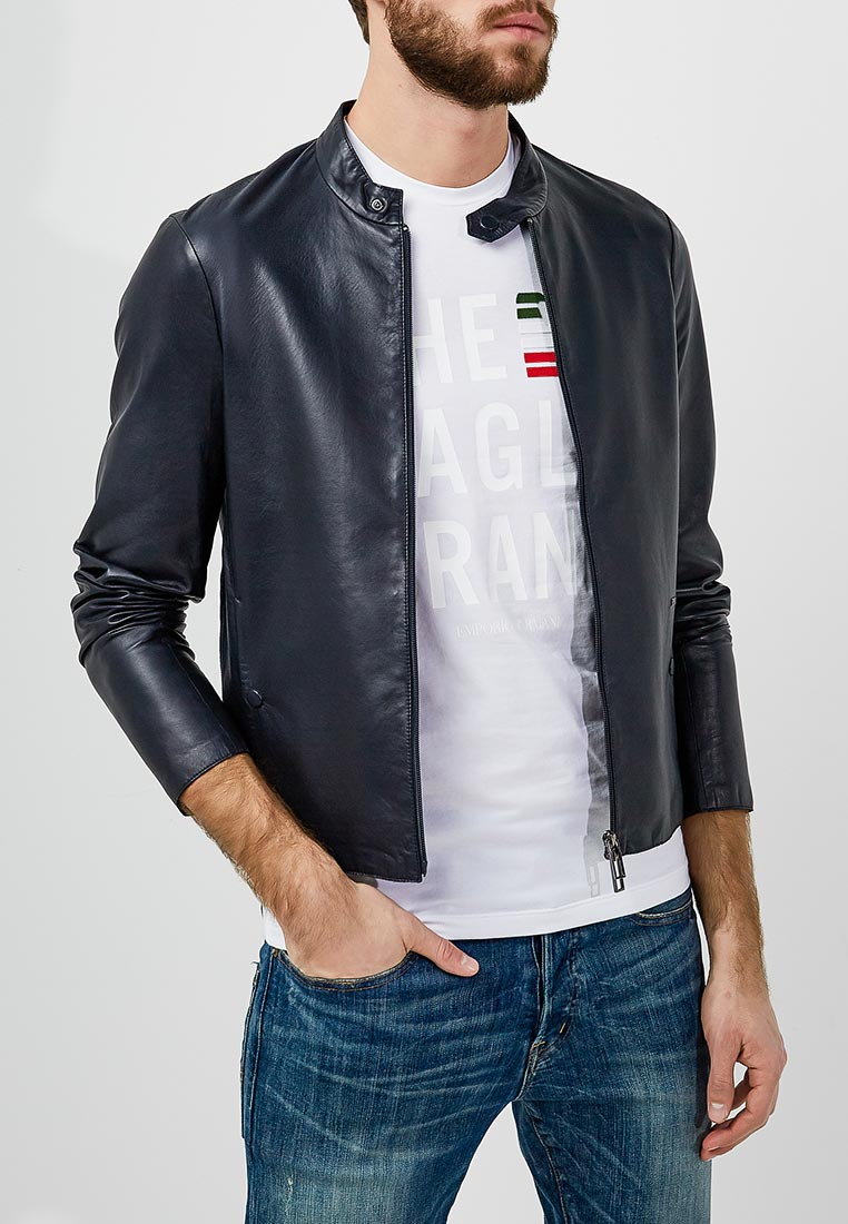 Кожаная куртка Emporio Armani 3Z1BM5 1LBAZ
