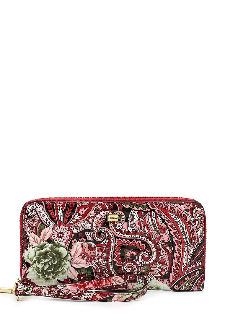 Кошелек Fabretti 77006-red flower L