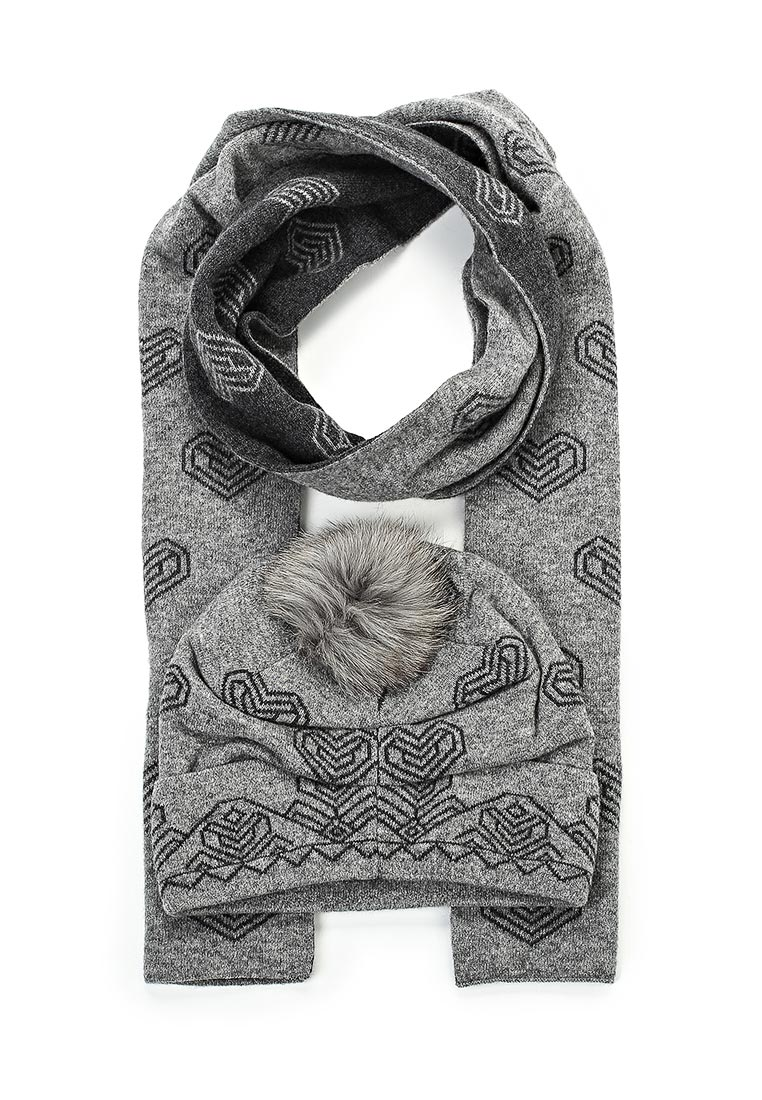 Шапка Fabretti 2012-41-gray/dark gray