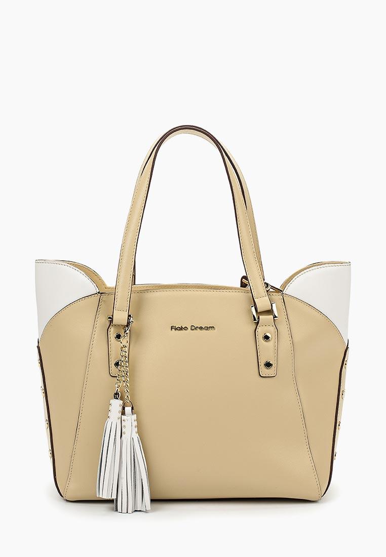 Сумка Fiato Dream 1032 кожа бежевый /белый (сумка женская)