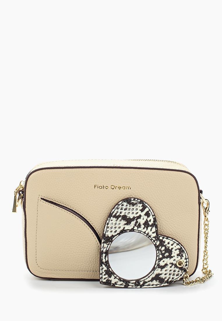Сумка Fiato Dream 1040 кожа бежевый  (сумка женская)