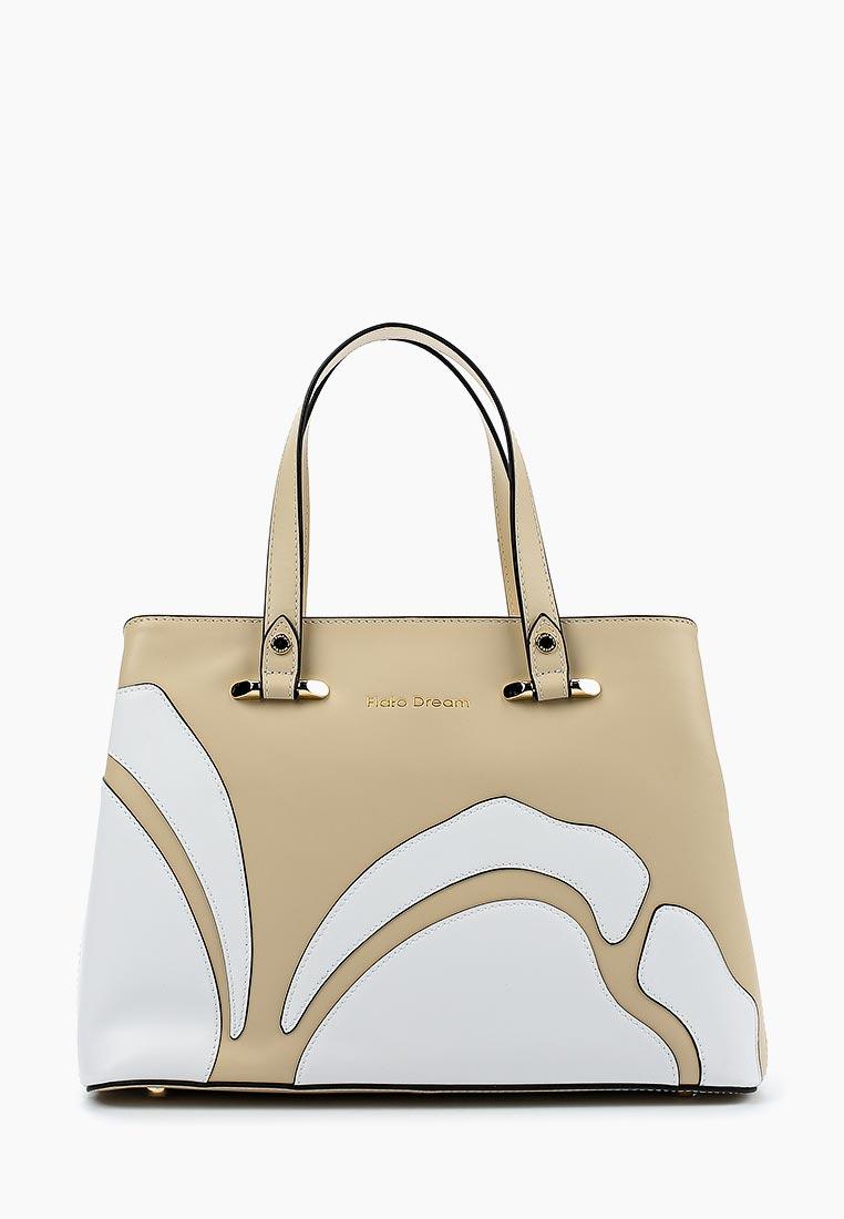 Сумка Fiato Dream 1120 кожа бежевый /белый (сумка женская)