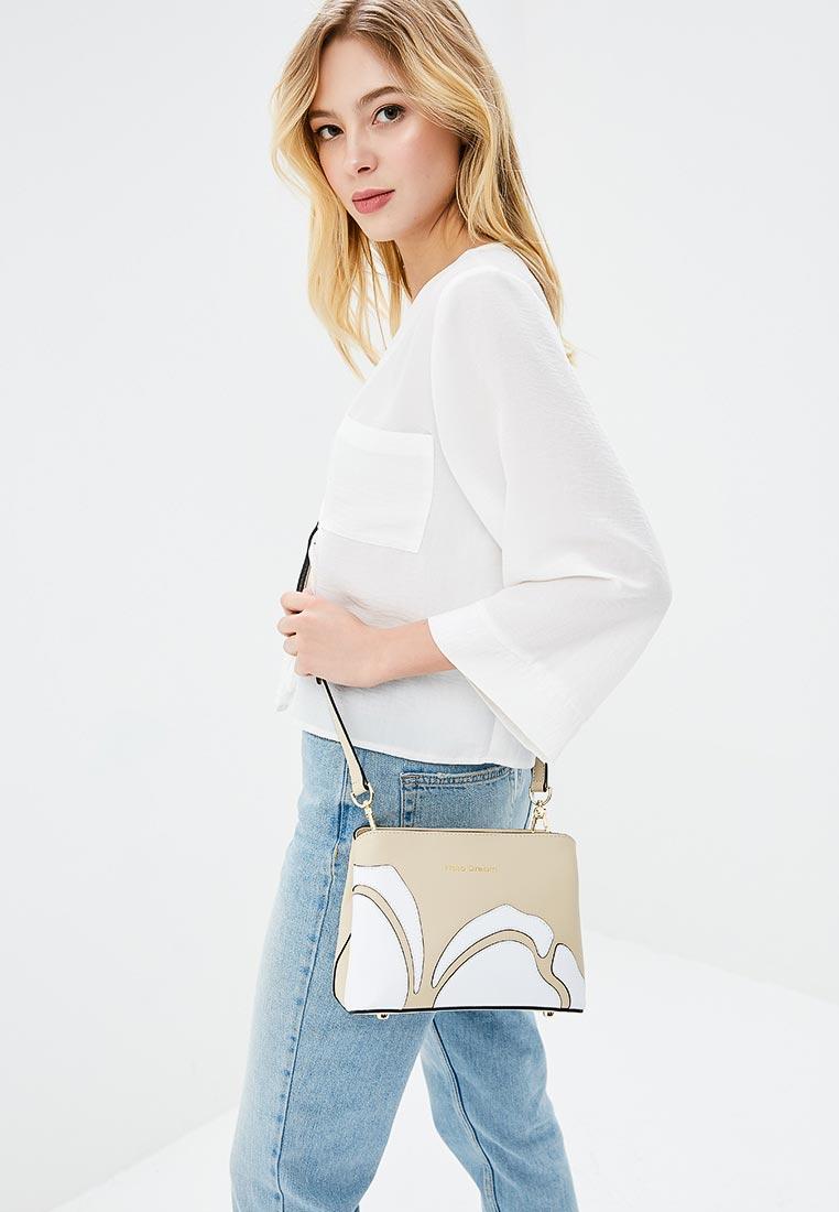 Сумка Fiato Dream 1122 кожа бежевый /белый (сумка женская)
