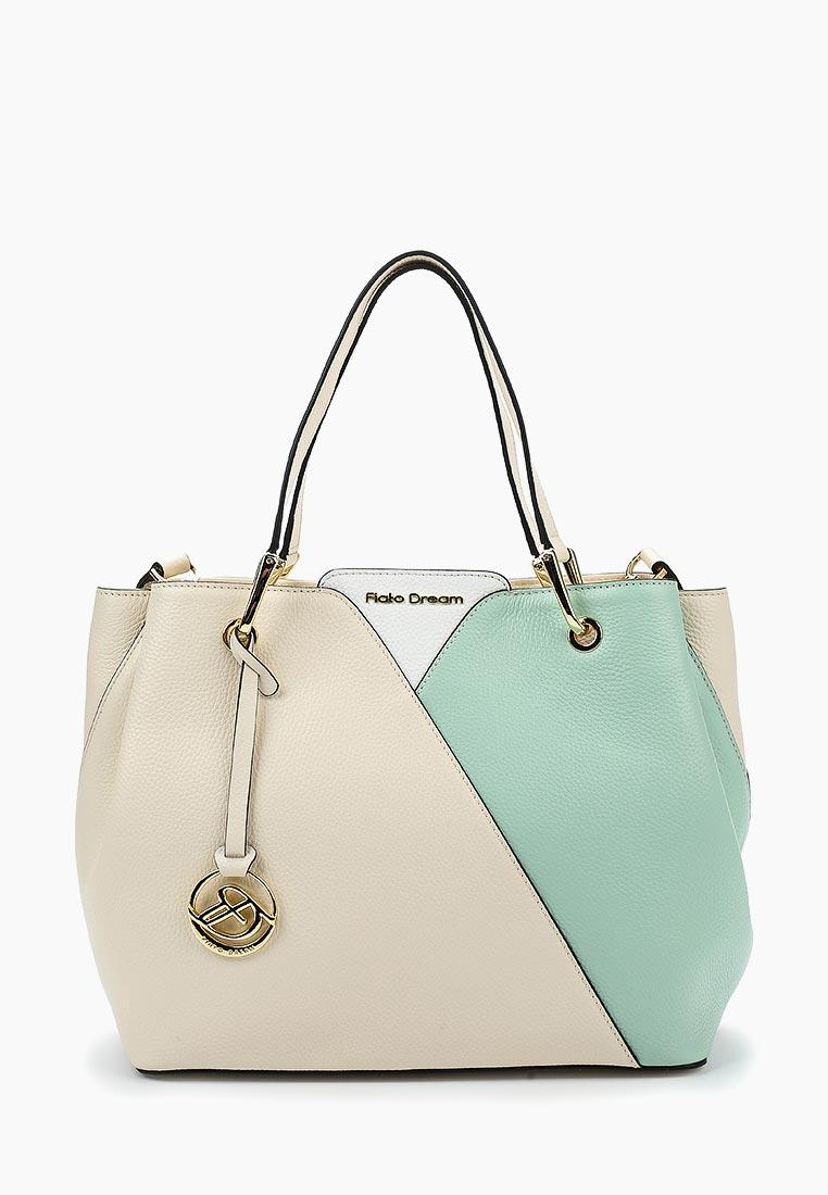 Сумка Fiato Dream 1128 кожа латте /бирюзовый/белый (сумка женская)