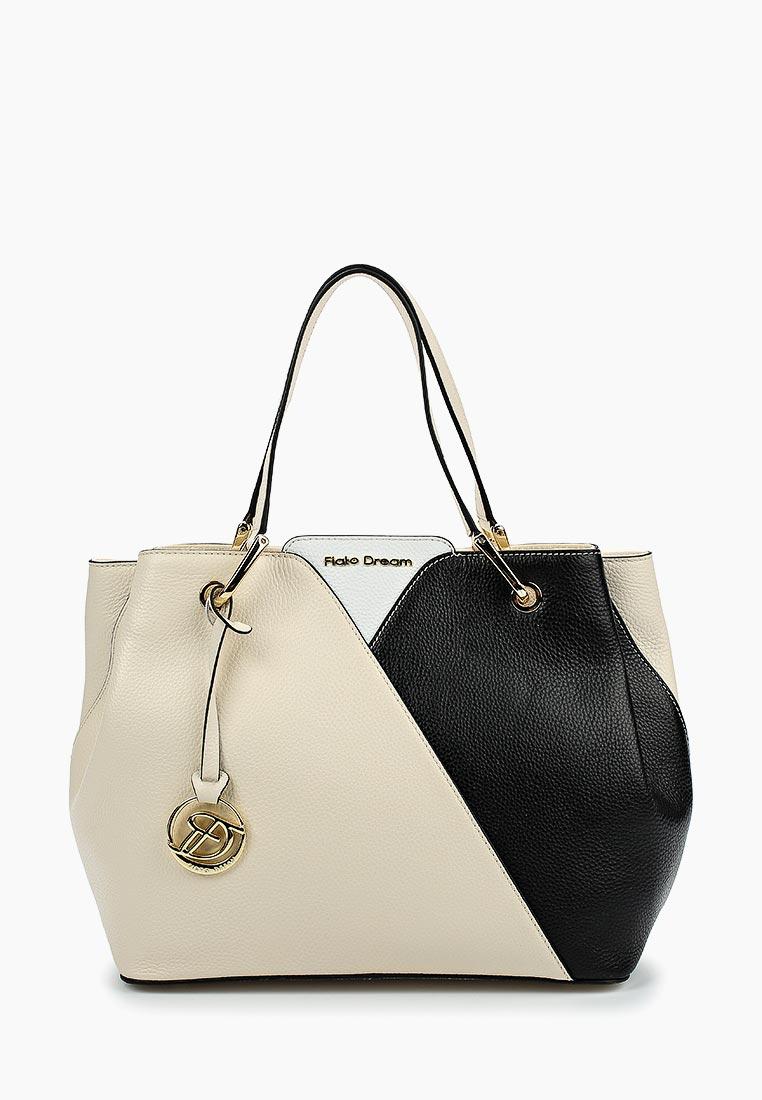 Сумка Fiato Dream 1128 кожа латте /черный/белый (сумка женская)
