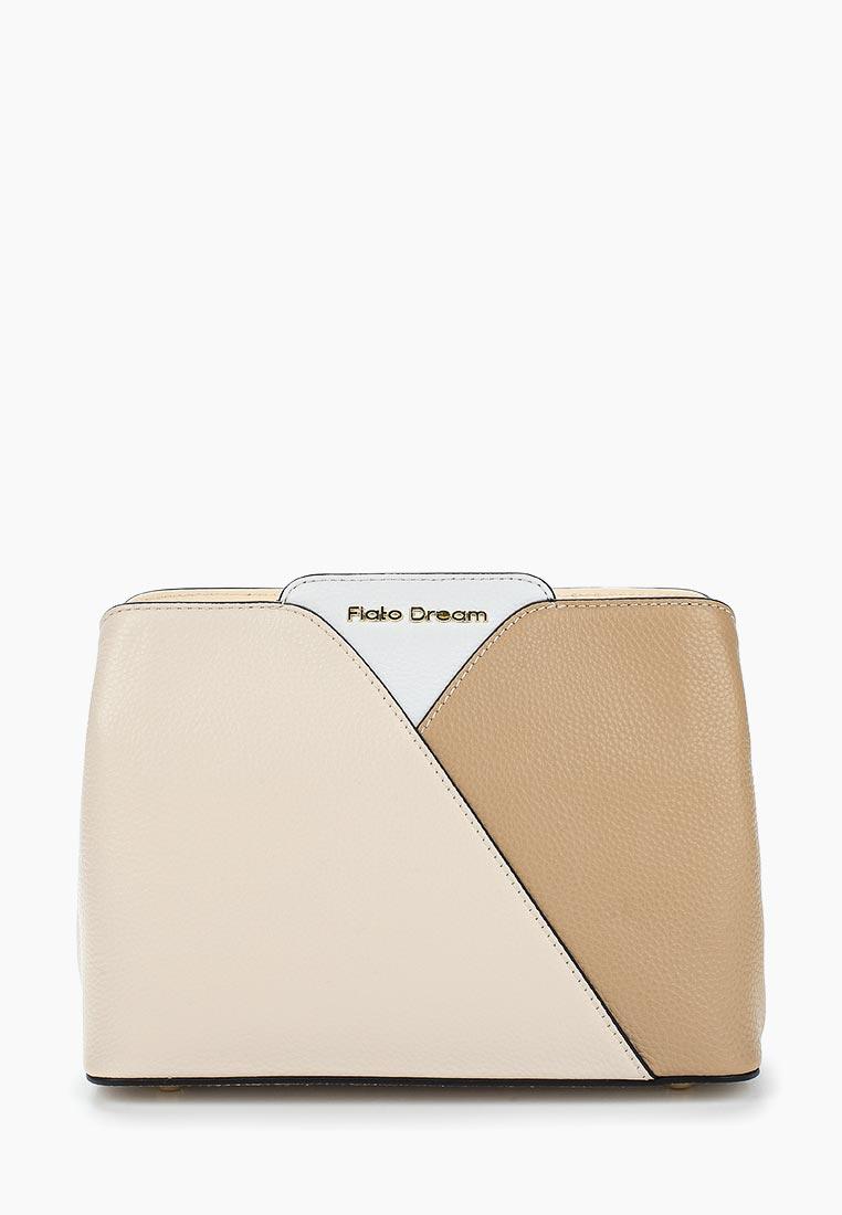 Сумка Fiato Dream 1129 кожа латте /бежевый/белый (сумка женская)