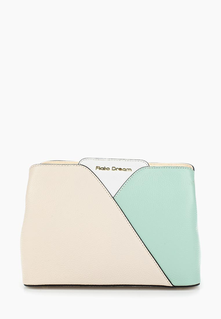 Сумка Fiato Dream 1129 кожа латте /бирюзовый/белый (сумка женская)