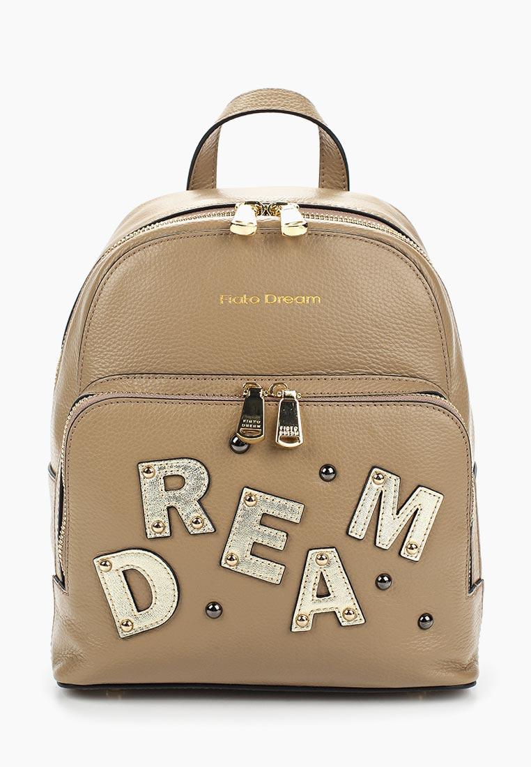 Городской рюкзак Fiato Dream 1132 кожа т.бежевый  (рюкзак женский)
