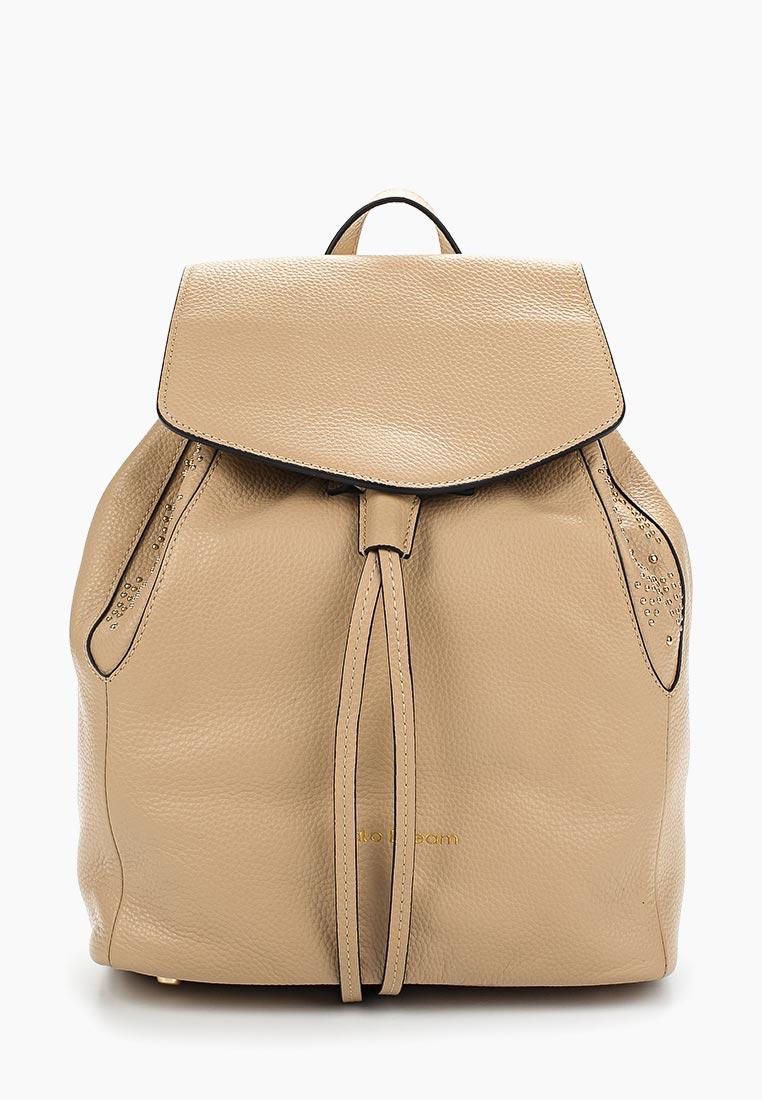 Городской рюкзак Fiato Dream 1137 кожа бежевый  (рюкзак женский)