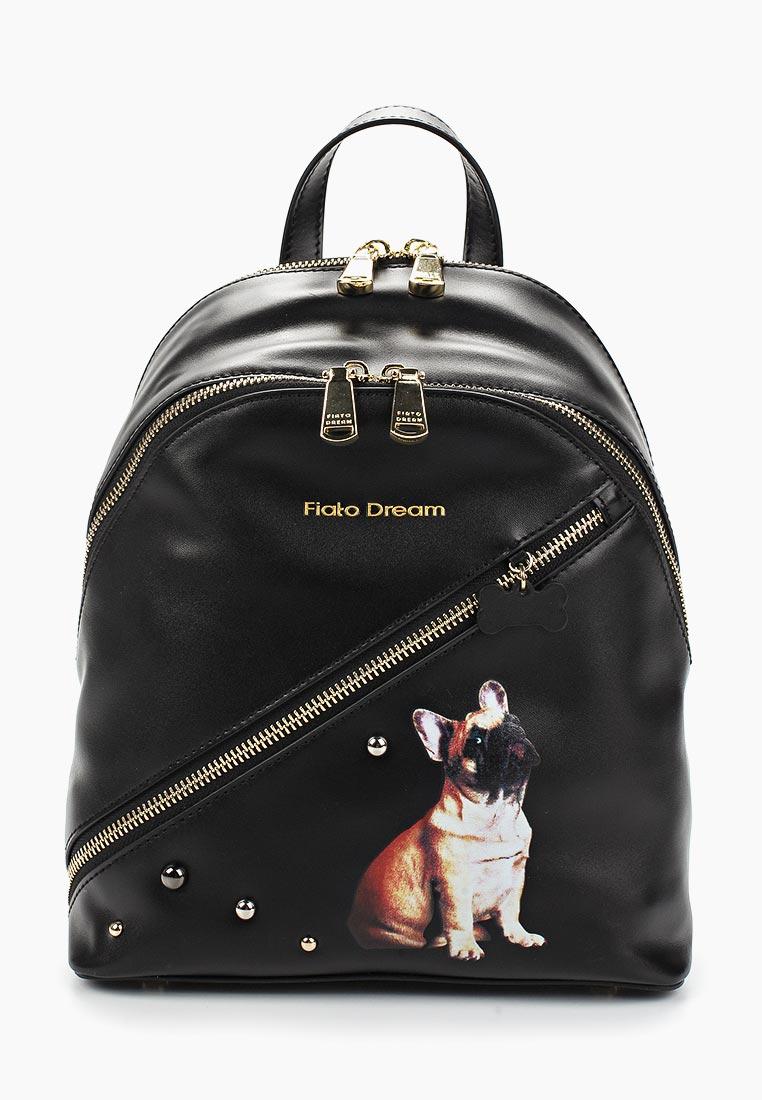Городской рюкзак Fiato Dream 1139 кожа черный  (рюкзак женский)
