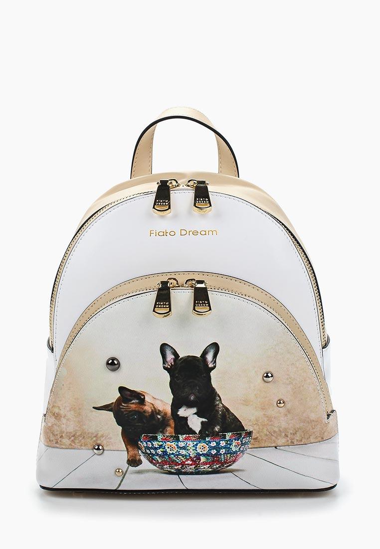 Городской рюкзак Fiato Dream 1140 кожа белый /бежевый (рюкзак женский)