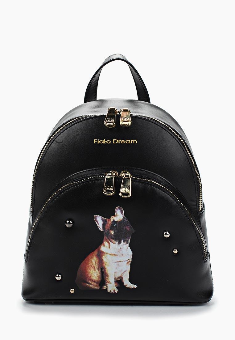 Городской рюкзак Fiato Dream 1140 кожа черный  (рюкзак женский)