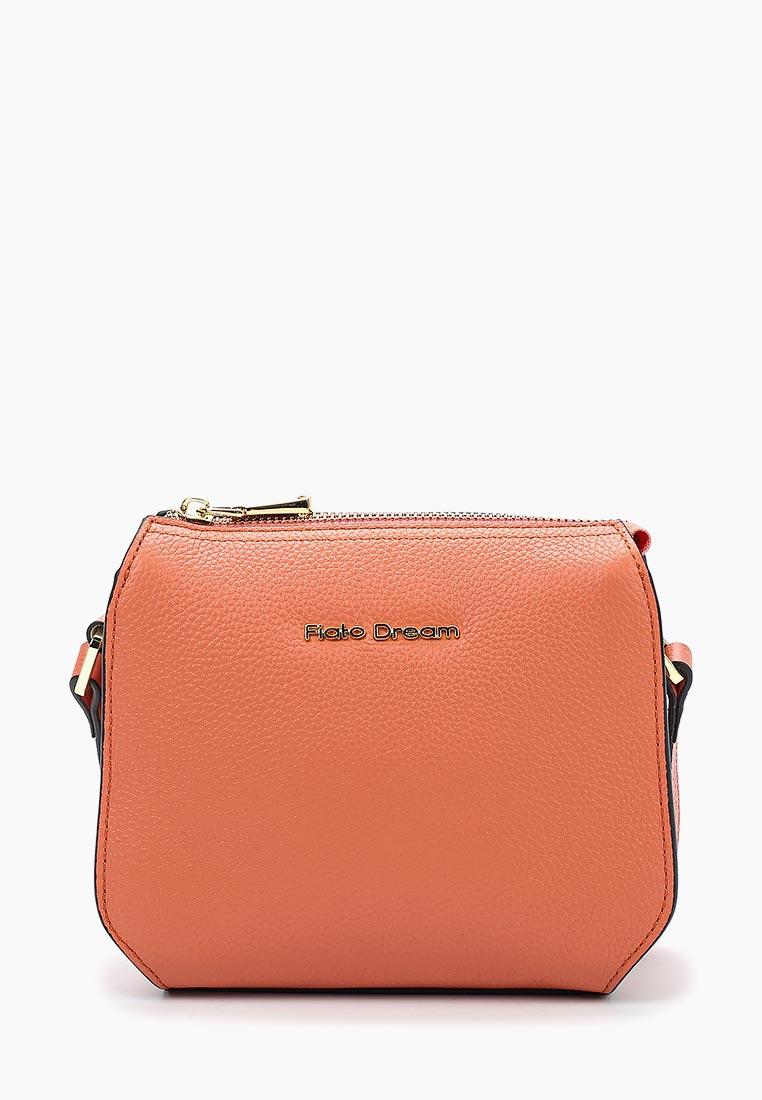 Сумка Fiato Dream 1143 кожа коралл  (сумка женская)
