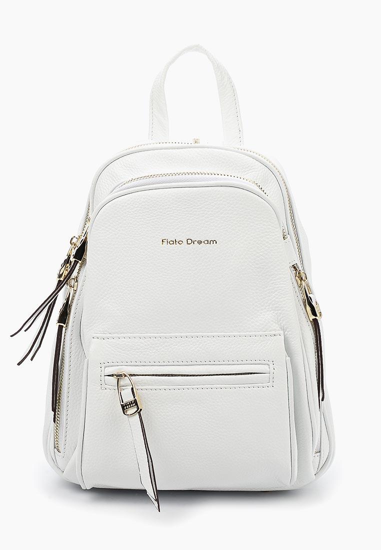 Городской рюкзак Fiato Dream 3854 кожа белый  (рюкзак женский)