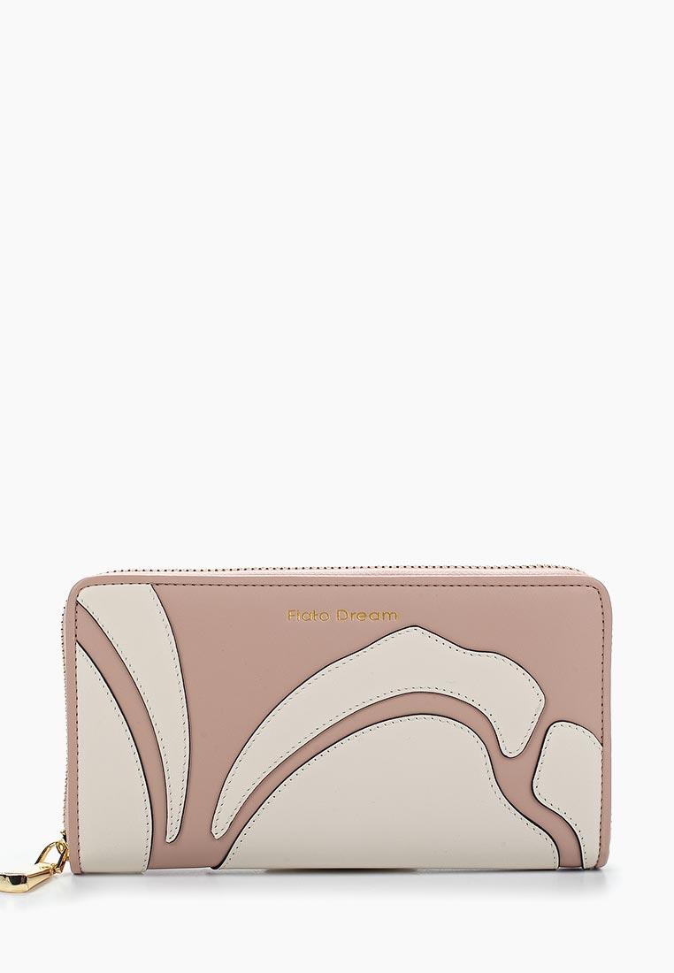 Кошелек Fiato Dream п135 кожа розовый /латте (кошелек женский)