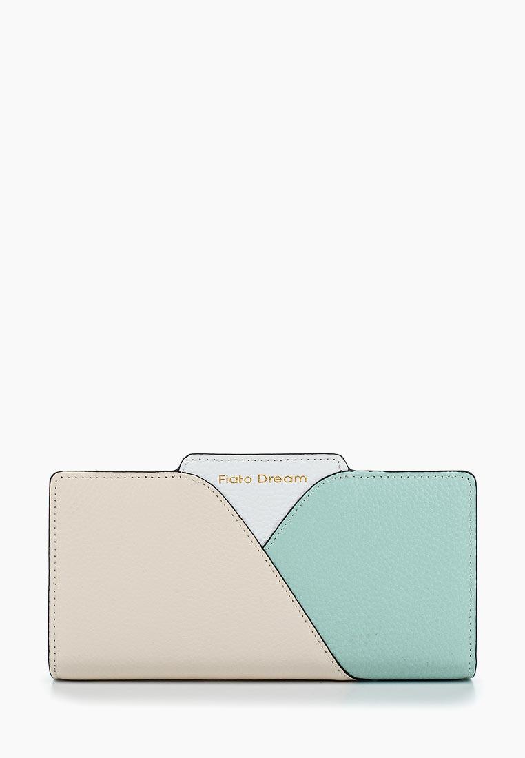 Кошелек Fiato Dream п139 кожа латте /бирюзовый/белый (кошелек женский)