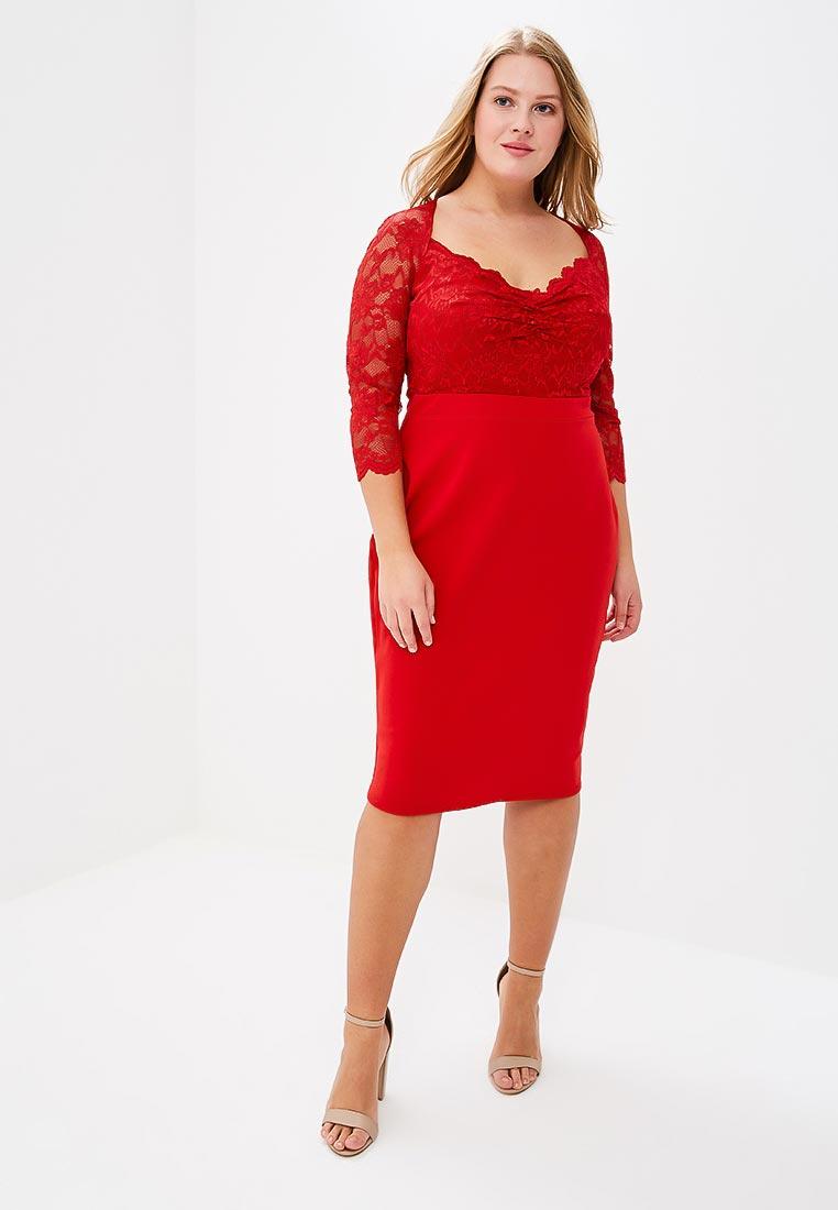 Вязаное платье Goddiva Size Plus DR1544P