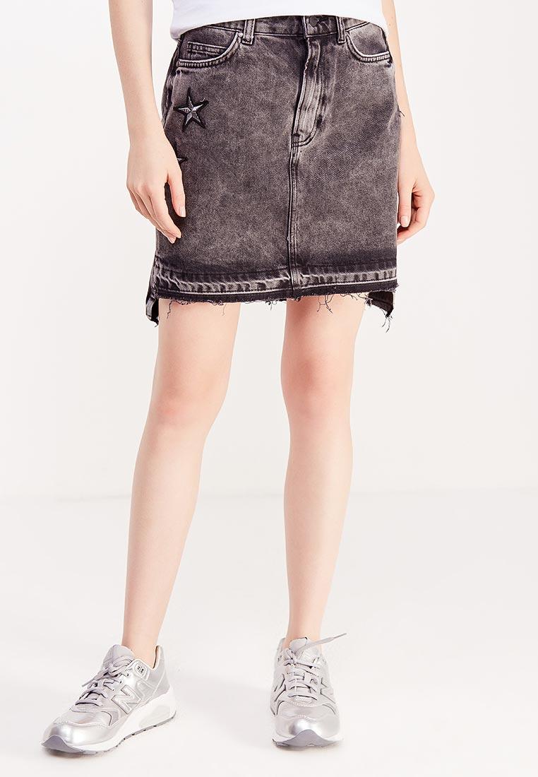 Прямая юбка Guess Jeans W74D57 D2QW0