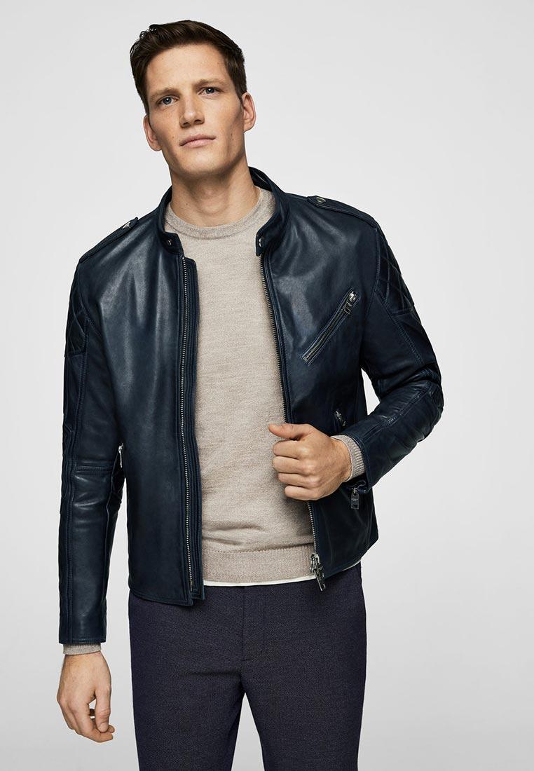 Кожаная куртка Mango Man 23040383