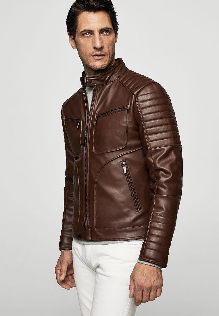 Кожаная куртка Mango Man 23020337