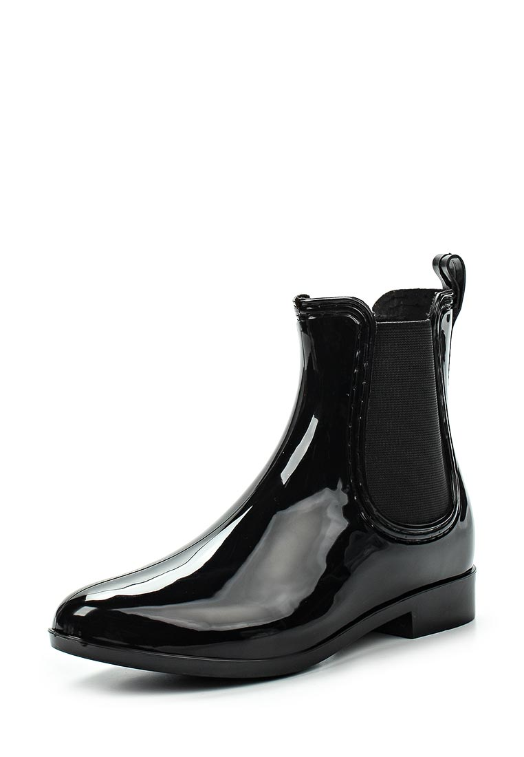 Женские резиновые полусапоги Ideal Shoes T-8448