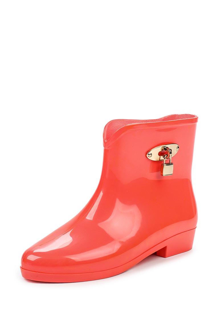 Женские резиновые полусапоги Ideal Shoes T-9103