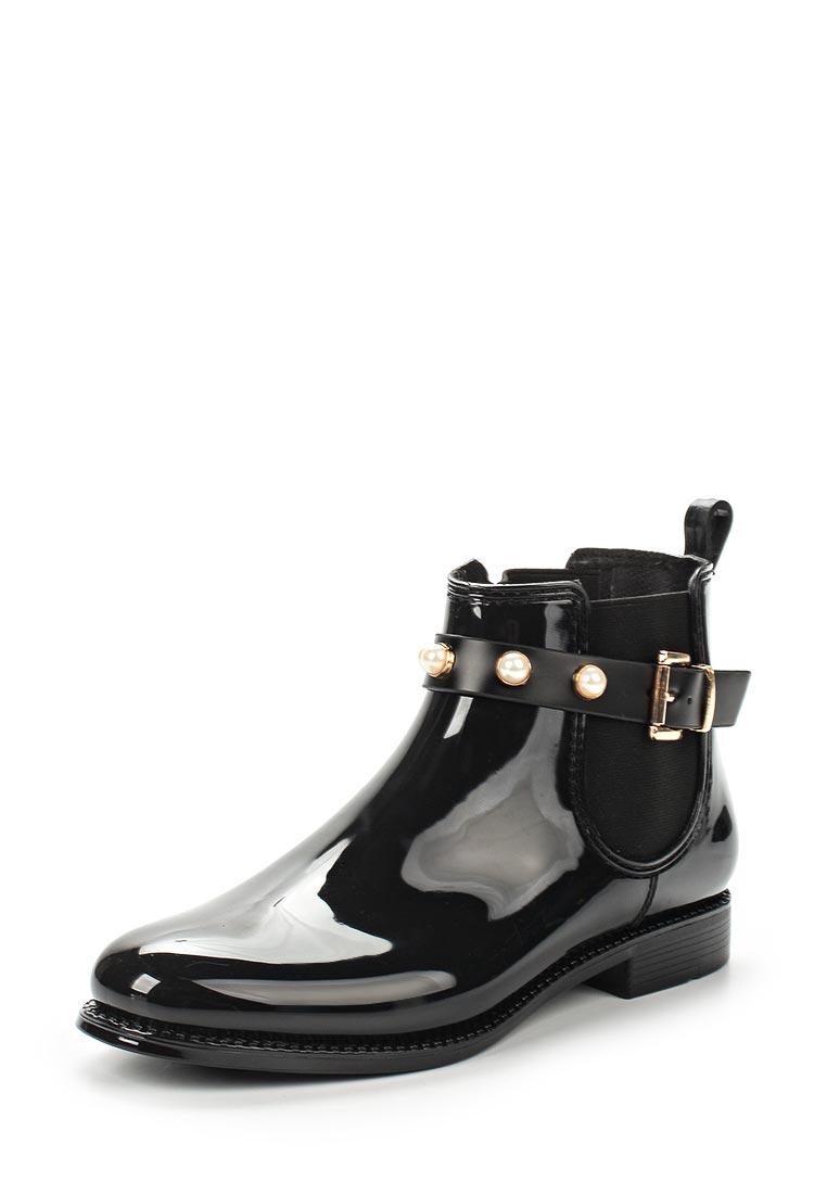 Женские резиновые полусапоги Ideal Shoes F-2686