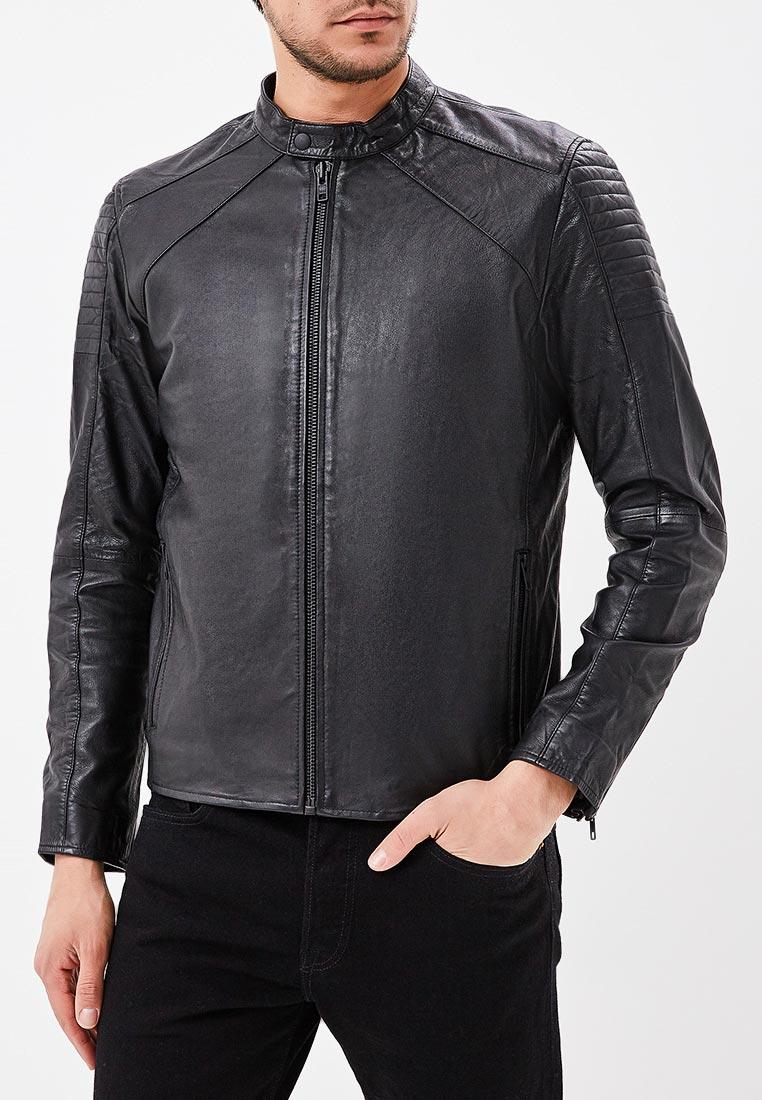 Кожаная куртка Jack & Jones (Джек Энд Джонс) 12134896