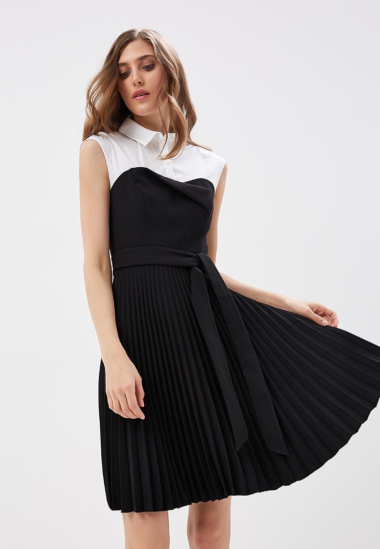 Платье Karen Millen (Карен Миллен) DC035_BLACWH_SS18